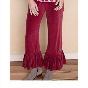 Matilda Jane Big Ruffles Rashima Velour Pants NWT